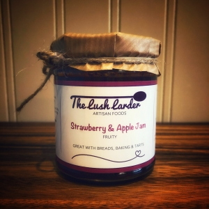 The Lush Larder Strawberry and Apple Jam