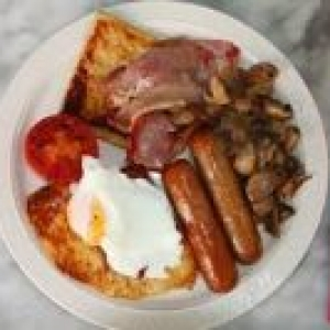 Breakfast Deal: Butcher shop sausages,Butcher shop bacon,6 free range eggs,cherry tomatoes,and pack of mushrooms